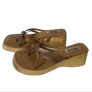 Vintage Steve Madden Chunky Wooden Platform Sandal